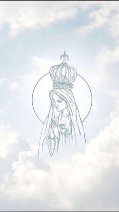 Jesus Christ Images, Jesus Art, Catholic Art, Catholic Saints, Mother Mary Wallpaper, Catholic Wallpaper, Heaven Art, Queen Of Heaven, Mama Mary