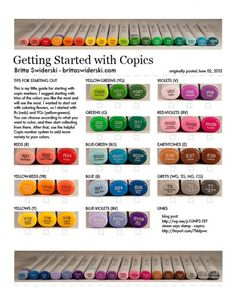 Getting Started with Copics - clever use of washi tape to identify which colors will need refilling