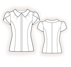 4379 PDF Sewing Pattern for Blouse Personalized for por TipTopFit