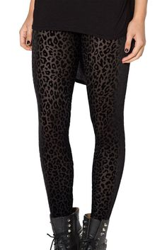 Burned Cheetah Leggings