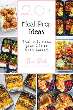 These 20 delicious meal prep ideas below will prepare you for any meal of the day - breakfast lunch or dinner. Save time save money enjoy more! Easy Diet Plan, Diet Plans To Lose Weight Fast, Healthy Recipes For Weight Loss, Healthy Meal Prep, Healthy Eating, Keto Meal, Healthy Food, Diet Smoothie Recipes, Smoothie Diet