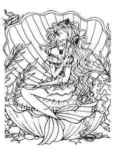 Pearl Princess Digital Stamp