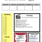 This is a weekly classroom newsletter that can be used in elementary classrooms....
