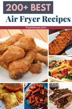 Here is the ULTIMATE collection of best air fryer recipes you can make in an air fryer. Find easy recipes for air fried Chicken, Fish, Vegetarian. Air Fryer Recipes Snacks, Air Frier Recipes, Air Fryer Dinner Recipes, Air Fryer Cooking Times, Cooks Air Fryer, Easy Cooking, Cooking Recipes, Easy Recipes, Cooking Fish