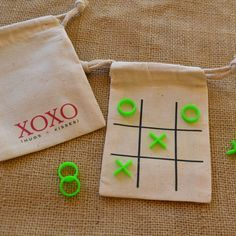 XOXO Tic Tac Toe Travel Game Wedding or Party by LuckyBugPaperCo, $8.95