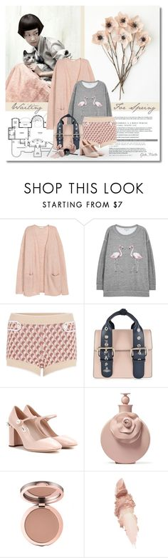 """""""Waiting for spring ... 2017"""" by greta-martin ❤ liked on Polyvore featuring Wildfox, Miu Miu, Vivienne Westwood, Valentino, Maybelline, PINCEAU, Chanel, shorts, cardigan and CasualChic"""