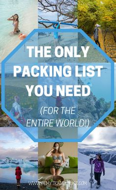 The ultimate packing list for women for the entire world. This is the only packing list you will need to pack quickly and efficiently for your trips a. - My Winter Break 2020 Ultimate Packing List, Packing List For Travel, Travel Checklist, Vacation Packing, Beach Holiday Packing List, Vacation Ideas, Cruise Vacation, Disney Cruise, Vacation Spots