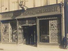 Hamerli család üzlete a Király utcában