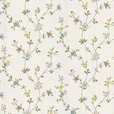 403-49220 Yellow Floral Trail - Daisy - Brewster Wallpaper