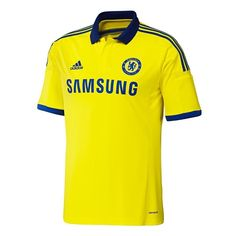 f25a8bee3 NEW Authentic ADIDAS CFC CHELSEA Away Jersey SZ M L XL 2014/2015 Yellow  M37745