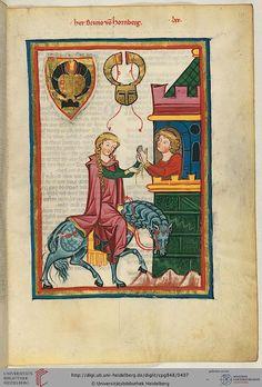Cod. Pal. germ. 848: Cod. Pal. germ. 848 Große Heidelberger Liederhandschrift (Codex Manesse) (Zürich, ca. 1300 bis ca. 1340)  251r