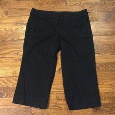 NWOT Black Cotton Capris Black Cotton Capris with cute front pocket details. Dry clean recommended. 27 inch inseam - 23 total length. Jeans