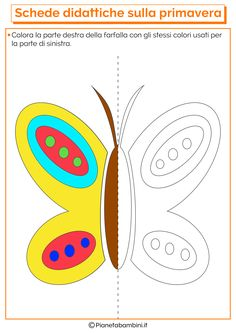 flashcard per bambini autistici Spring Activities, Activities For Kids, Symmetry Activities, Math Patterns, Color By Numbers, Hello Spring, Pixel Art, Preschool, Arts And Crafts