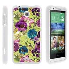 Buy Desire 510 Case, Stylish Personalized Protective Snap On Hard Case Phone Protector for HTC Desire 510 (Sprint, Cricket, Boost Mobile, Virgin Mobile) from MINITURTLE | Includes Clear Screen Protector and Stylus Pen - Yellow Purple Flowers NEW for 9.99 USD | Reusell