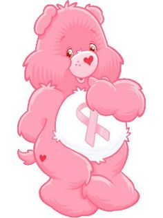 Pink Care Bear wearing the Breast Cancer ribbon. Breast Cancer Support, Breast Cancer Survivor, Breast Cancer Awareness, Breast Cancer Quotes, Care Bears, Tout Rose, Go Pink, Purple, Pink Power