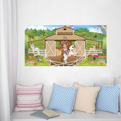 Mona Melisa Designs Cowgirl Hanging Wall Mural Eye Color: Hazel, Hair Color: Brown, Skin Shade: Medium