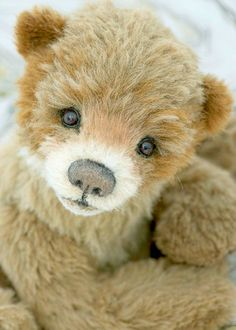 This sweet bear is called CODY . He's an 18 inch alpaca bear who I designed in a realistic style with a whimsical twist. He has a double ne...