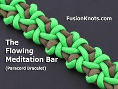 How to Make the Flowing Meditation Bar (Paracord) Bracelet by TIAT - YouTube