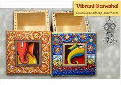 Madhubani ganesha boxes
