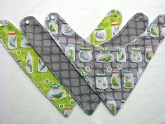 Baby Bibs 3 Baby Bandana Bibs Designer Fabrics  by FrancescaBaby