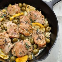 for Sherry Braised Chicken Thighs with Meyer Lemons and Green Olives ...