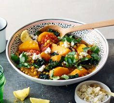 Moroccan chickpea, squash & cavolo nero stew (butternut squash)