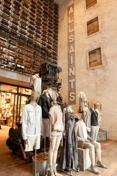 All Saints store design at the main entrance