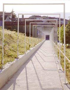 Pedestrian Path at Orsara di Puglia, Foggia by Raimondo Guidacci - 谷德设计网 Landscape And Urbanism, Urban Landscape, Landscape Design, Garden Design, Garden Architecture, Architecture Details, Outdoor Shade, Outdoor Walkway, Covered Walkway