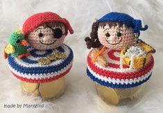 Crochet Jar Covers, Crochet Hats, Teddy Bear, Toys, Craft, Mason Jars, Free Pattern, Manualidades, Tricot