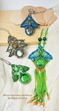 Micro-macrame necklaces by MartaJewelry