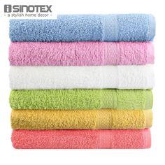 Pas cher Serviette de bain 100% coton 50 x 80 cm 1 pcs/lote 6 couleur toalha de…