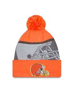 NFL Cleveland Browns Gold Collection Team Color Knit Beanie One Size fits All OrangeGray *** You can get more details by clicking on the image.