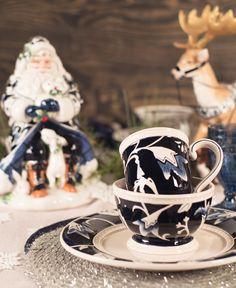 Bristol Holiday Santa, Reindeer & Dinnerware, by Fitz and Floyd.