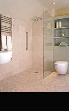 New Ideas Bathroom Shower Screen Wet Rooms Wet Room Bathroom, Beige Bathroom, Bathroom Layout, Simple Bathroom, Bathroom Interior, Bathroom Ideas, Handicap Bathroom, Bathroom Plans, Family Bathroom