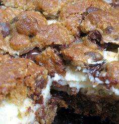 Cream Cheese Cookie Bars... My mouth waters just thinking about it
