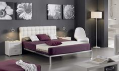 Awesome white and purple bedroom. Decor, Furniture, Room, Home Projects, Purple Bedroom, Purple Sheet, Bedroom Furniture, Bedroom Inspirations, Interior Design