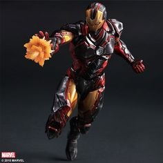 The first Marvel figure from Square Enix was originally revealed at New York Comic-Con 2014. Now, thanks to Amiami, we have our first really good look at the Play Arts Kai Variant Iron Man. The figure is the first in a series of redesigned Marvel characters coming from the Play Arts Kai line. Iron Man includes multiple interchangeable hands, leg missile attachments, leg exhaust pieces, and a figure stand. They have it priced at 9,080 Yen (about $77 USD) with a release in June. Read on for…