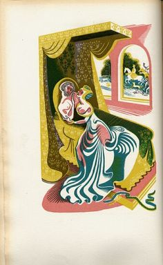 """The Golden Cockerel Press edition of """"Sir Gawain and the Green Knight"""". Translated by Gwyn Jones and illustrated by Dorothea Braby, 1952 King Arthur's Knights, Icelandic Sagas, Green Knight, Teaching Literature, Children's Book Illustration, Illustrations, Wood Engraving, Faeries, Drawing Reference"""