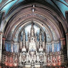 Within Basilique Notre-Dame #montreal #canada #northamerica. Image by @Carla Gentry Gentry Pearse. #lonelyplanet #travel #architecture #nofilter