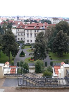 A beautiful private garden that steps up the side of castle hill in Prague