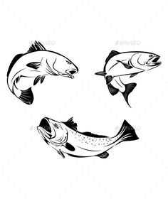 This is a vector of trout fish that you can use as a logo or design element