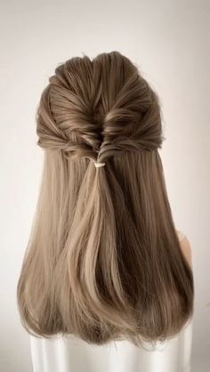 Easy Hairstyles For Long Hair, Braids For Short Hair, Winter Hairstyles, Diy Hairstyles, Office Hairstyles, Anime Hairstyles, Stylish Hairstyles, Hairstyles Videos, Hairstyle Short