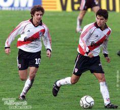 Pablo Aimar & Javier Saviola - River Plate. Uno al Valencia y el otro al Barcelona