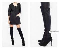 BSB Fashion #daily wednesday Find the dress online here >> http://bit.ly/1GweP0h Find the boots online here >> http://bit.ly/1LyD99n