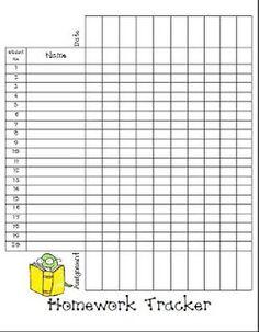 homework checklist for teachers
