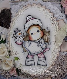 Tilda with Little Snowy Magnolia, Sugar, Cookies, Winter, Desserts, Christmas, Cards, Food, Crack Crackers
