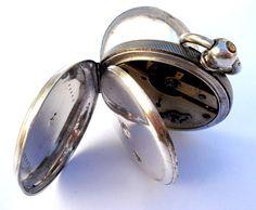 Antique Pocket Watch London Victorian Silver Hunter 1900c 47mm #SignedRegenStreet