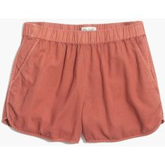 MADEWELL Linen-Cotton Pull-On Shorts ($50) ❤ liked on Polyvore featuring shorts, lava rock, cotton shorts, cotton linen shorts, madewell, madewell shorts and cut-off