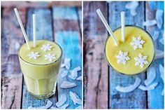 Smoothie 6 Glass Of Milk, Great Recipes, Smoothies, Panna Cotta, Drinks, Ethnic Recipes, Food, Beverages, Hoods