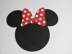 "15 pack -2.5"" Minnie Mouse ears with a bow- DIY invitations, favor tags, labels, banners, thank you cards. $4.25, via Etsy."